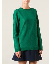 Ermanno Scervino Lace Woven Sweater - Lyst