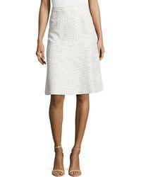Carolina Herrera Pastel Tweed A-line Skirt - Lyst