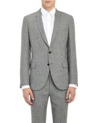 Band Of Outsiders Puppytooth Twobutton Schoolboy Jacket - Lyst
