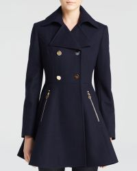 Laundry by Shelli Segal Skirted Wool Coat - Lyst