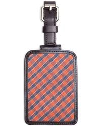 Brooks Brothers Check Luggage Tag - Lyst
