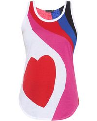 Alexander McQueen Heart-Print Jersey Top - Lyst