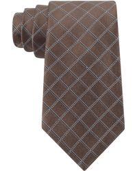 DKNY Graphic Grid Slim Tie - Lyst