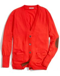 COACH Merino Boyfriend Cardigan - Red