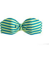 J.Crew Striped Bandeau Bow Bikini Top - Lyst