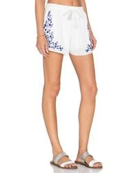 Rory Beca - Nia Embroidered Shorts - Lyst