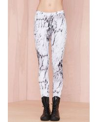 Nasty Gal All The Marbles Scuba Leggings - Lyst