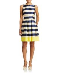 Eliza J Stripe Fit And Flare Dress - Lyst