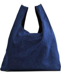 Shopping Bag in Bluette Leather Maison Martin Margiela KmrOj45