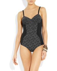 Bottega Veneta - Embellished Paneled Swimsuit - Lyst