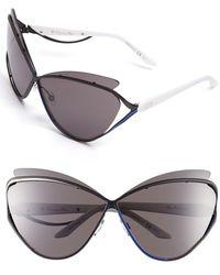 Dior Women'S 'Audacieuse 1' 72Mm Butterfly Sunglasses - Matte Black - Lyst