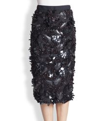 Marni Embellished Pencil Skirt - Lyst