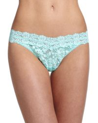 Hanky Panky Cross-Dye Original Rise Lace Thong green - Lyst