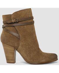 AllSaints Victoria Heel Boot brown - Lyst