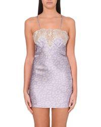 Gilda & Pearl King Gina Short Silk Slip - For Women, Palevioletred (Dark Pink) - Lyst