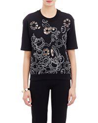Carven Black Short-Sleeve Sweatshirt - Lyst