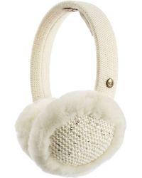 UGG - Lyla Wool Blend And Shearling Earmuffs - White - Lyst