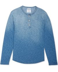 Lucky Brand Washed Thermal Henley Shirt - Lyst