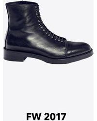 3.1 Phillip Lim Lou Lace-up Boot - Black