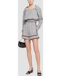 3.1 Phillip Lim French Terry Boxing Short - Grey