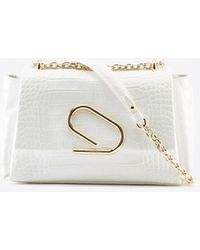 3.1 Phillip Lim Alix Soft Chain Embossed Croc Bag - White