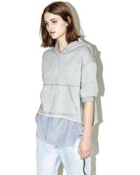 3.1 Phillip Lim French Terry Hoody Jumper - Grey