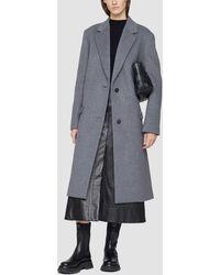 3.1 Phillip Lim Melton Wool Blend Oversized Coat - Grey