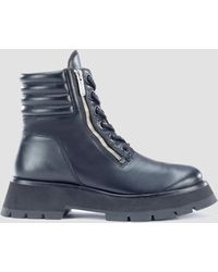 3.1 Phillip Lim Kate Lug Sole Double Zip Boot - Black