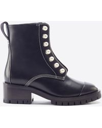 3.1 Phillip Lim Hayett Pearl Zipper Boot - Black