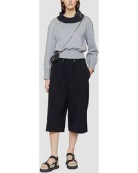3.1 Phillip Lim Cowl Neck French Terry Sweatshirt - Grey