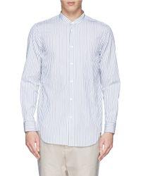 Covert 'Coreana' Stripe Cotton Poplin Shirt blue - Lyst