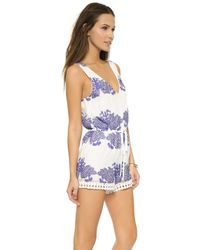 Liv - Lani Romper - Royal Blue - Lyst
