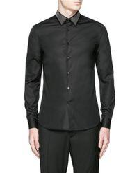 Alexander McQueen | Stud Collar Poplin Shirt | Lyst