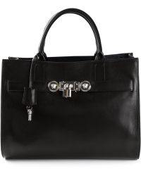 Versace Padlock Detail Shoulder Bag - Lyst