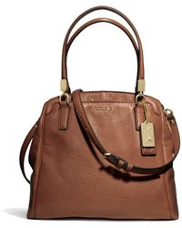 COACH Madison Minetta in Leather - Brown