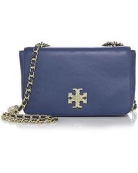 Tory Burch Mercer Pebbled-Leather Chain Shoulder Bag - Lyst
