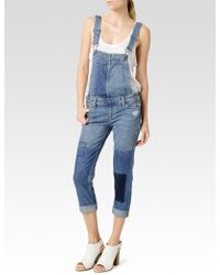 Paige Sierra Overall blue - Lyst