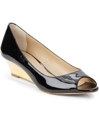 Saks Fifth Avenue Clarissa Peep Toe Wedges - Lyst
