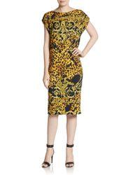Versace Baroque Animal-Print Jersey Dress multicolor - Lyst