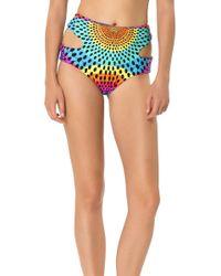 Mara Hoffman Cutout High Waisted Bikini Bottom - Lyst