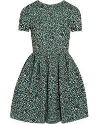 Matthew Williamson Leopard-Print Jacquard Mini Dress - Lyst