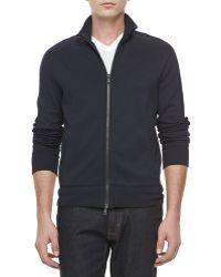 Ralph Lauren Black Label Jersey Zip Front Track Jacket - Lyst