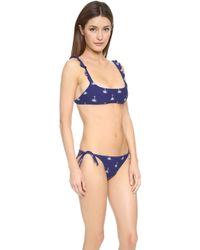 Zoe Karssen - Palm Tree Bikini - Blue Print - Lyst
