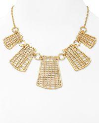 T Tahari - Sticks Stones Statement Necklace 16 - Lyst