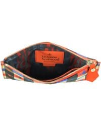 Vivienne Westwood - Logomania Black & Red Eco Leather Pouch - Lyst