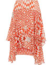 Preen Kenobi Printed Ruffle Skirt - Lyst