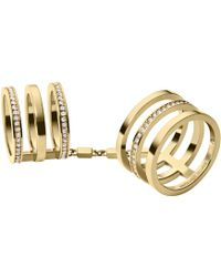 Michael Kors Pavé-embellished Gold-tone Knuckle Ring - Lyst