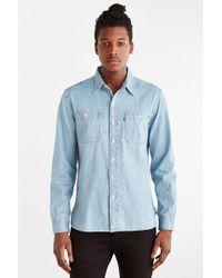 Levi's Light Crackle Denim Button-Down Shirt - Lyst