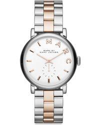Marc By Marc Jacobs Baker Rose Goldtone & Silvertone Stainless Steel Logo Bracelet Watch - Lyst