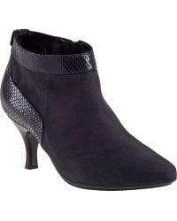 Aquatalia by Marvin K Max Ankle Boot Anthracite Suede - Lyst